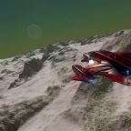 View on planet in low height flight, ED:Odyssey