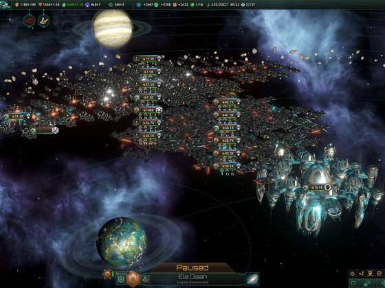 Stellaris allied fleet ganging up, few years later