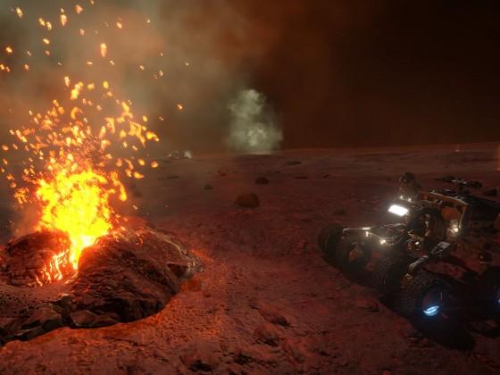 Lava geysers
