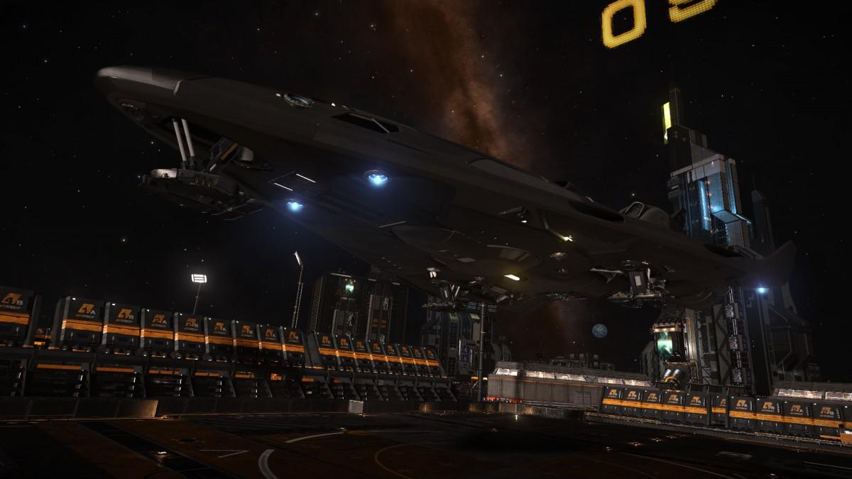 FDL docking on planetary base