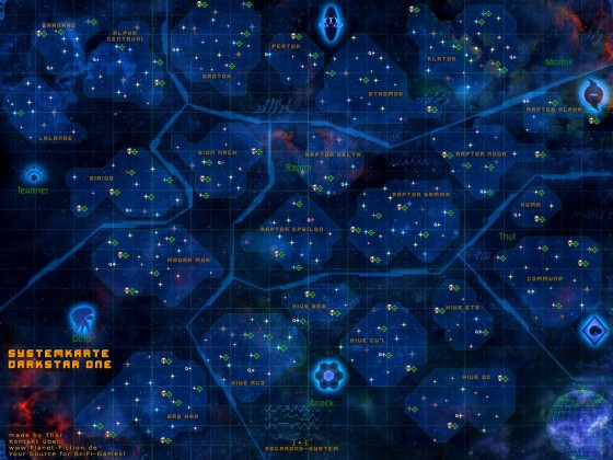 Darkstar One Galaxy Map