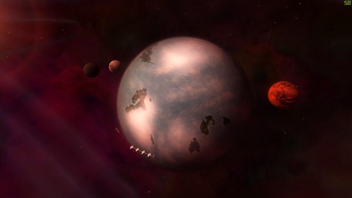 Surrounding of the Planet Monoc