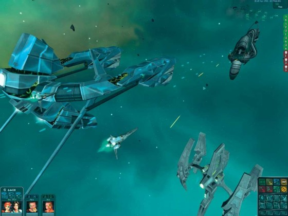 Star Wolves 2 Alien ships(cept the bomber) vs Imperial Battleship