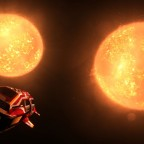 Shining in the light of two suns