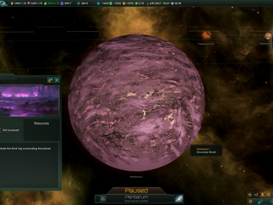 Stellaris: Shrouded worlds sometimes open up and show a perfect Gaia planet, for short times.