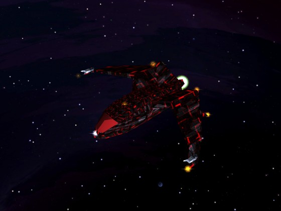 Crossfire 1.9 - Ship in space