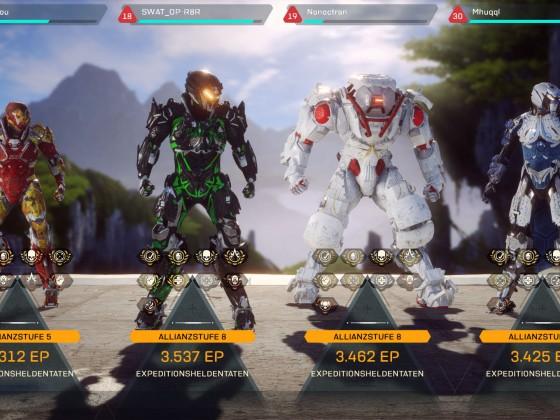 Anthem Stronghold result screen