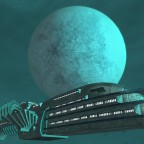 Luxury Liner near Asurn moon - Daedalus