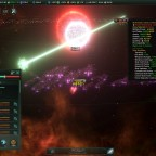 Stellaris L-Cluster's Nanite Mothership's one hit ko laser + Overlapping suns
