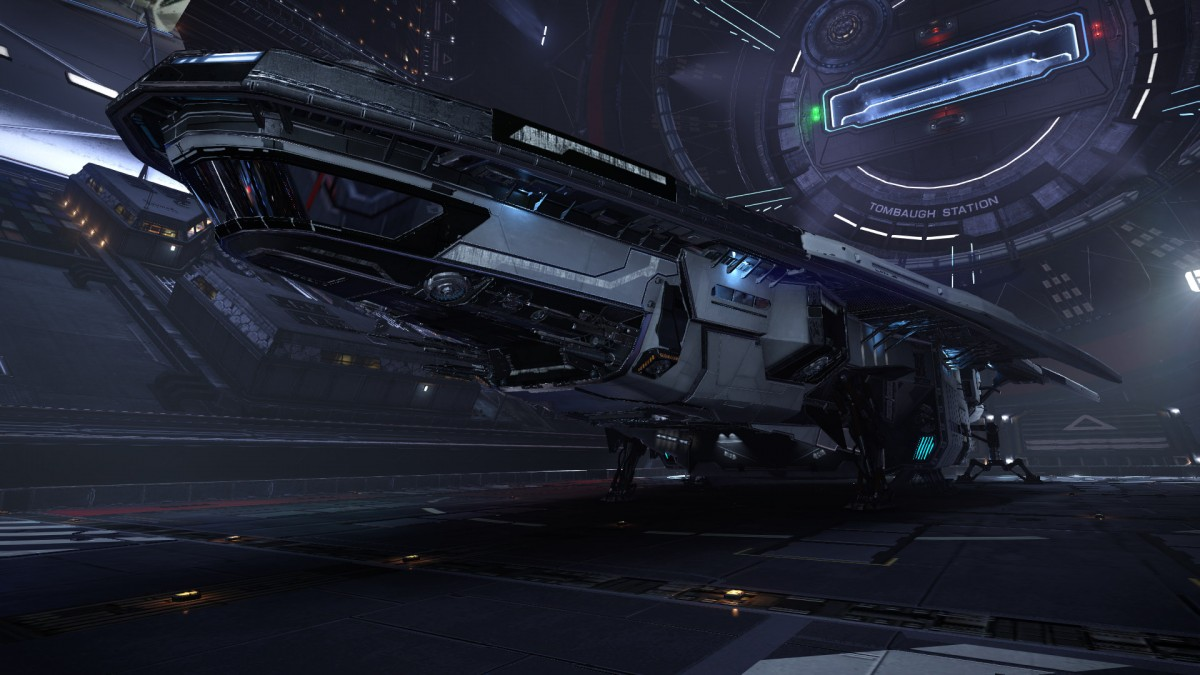 Shadow Miner is docked at Tombaguh station in Orcus system