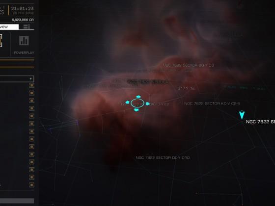Nav map NGC 7822