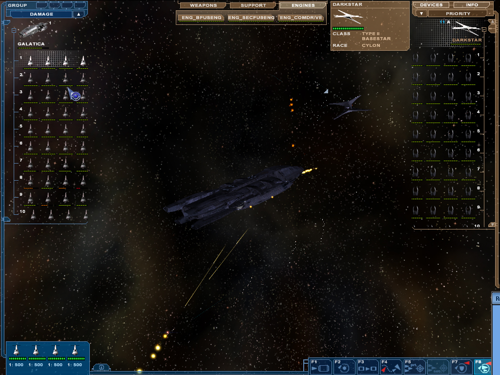 BSG mod - fighter combat