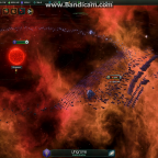 Stellaris invading fleet after engaging, under debuff effect