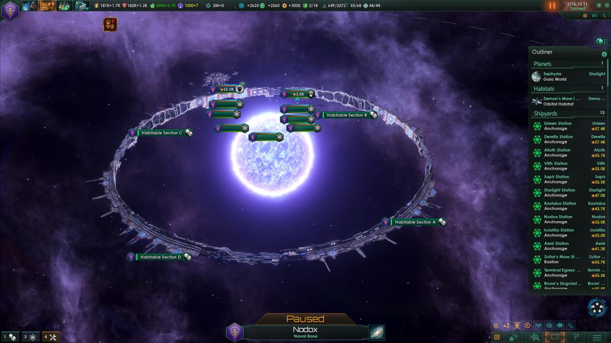 Stellaris: Own built ringworld