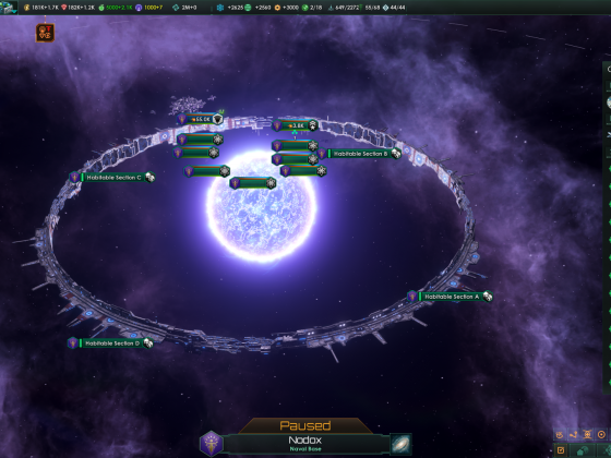 Stellaris: Own built ringworld