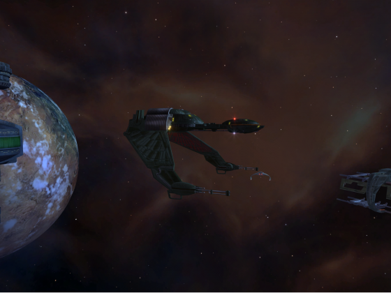 Klingon Vessel Prototype with advanced Cloaking Systems, Kirk-Aera