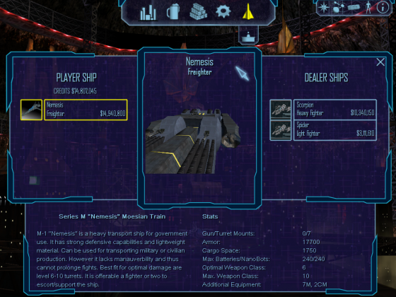 Nemesis ship placed at Planet Solaria
