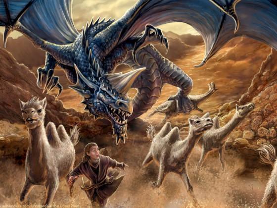 Dragonlance Blue Dragon