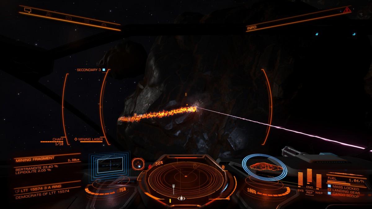 Mining - cockpit view