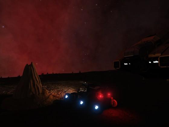 Planet near Red Nebulae