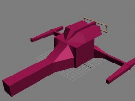 Space ship 3D model: progress show
