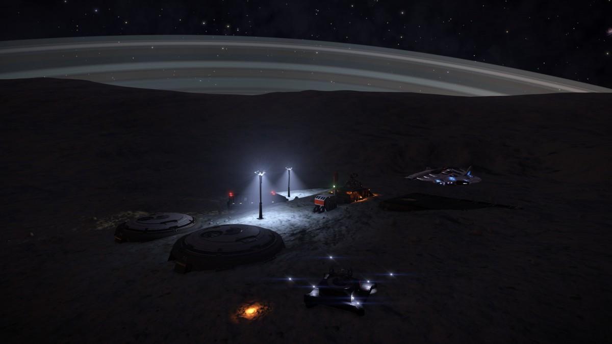 Settlement on ringed planet