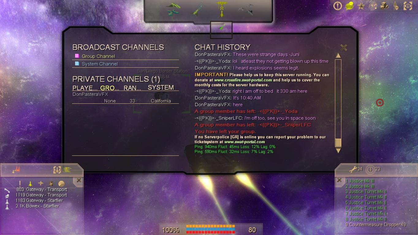 What a quiet server...