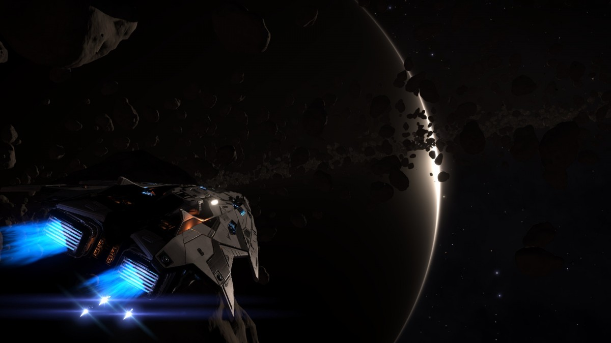 Moving to asteroid dense area