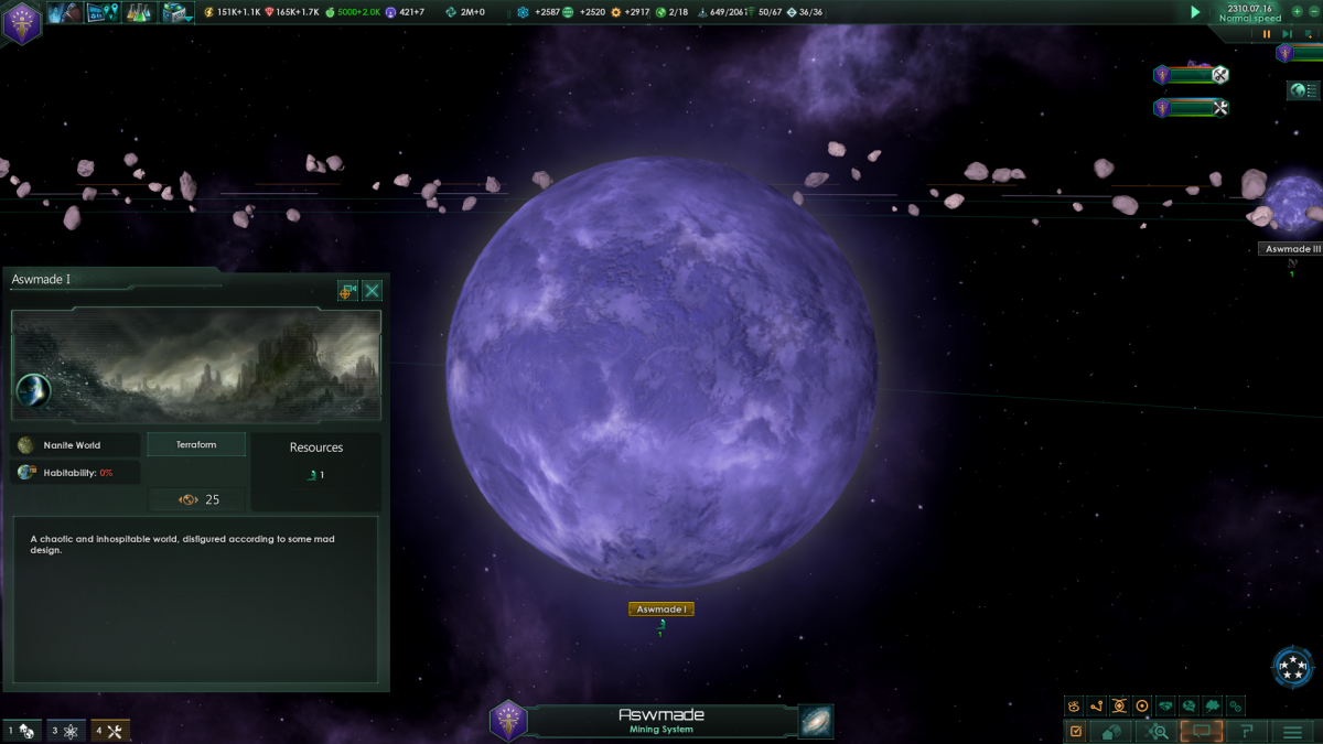 Stellaris: Nanite world, terraformable  - SWAT Portal