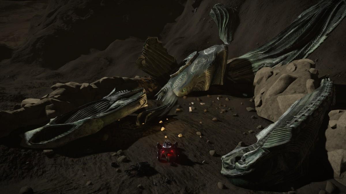 Alien crash site detail