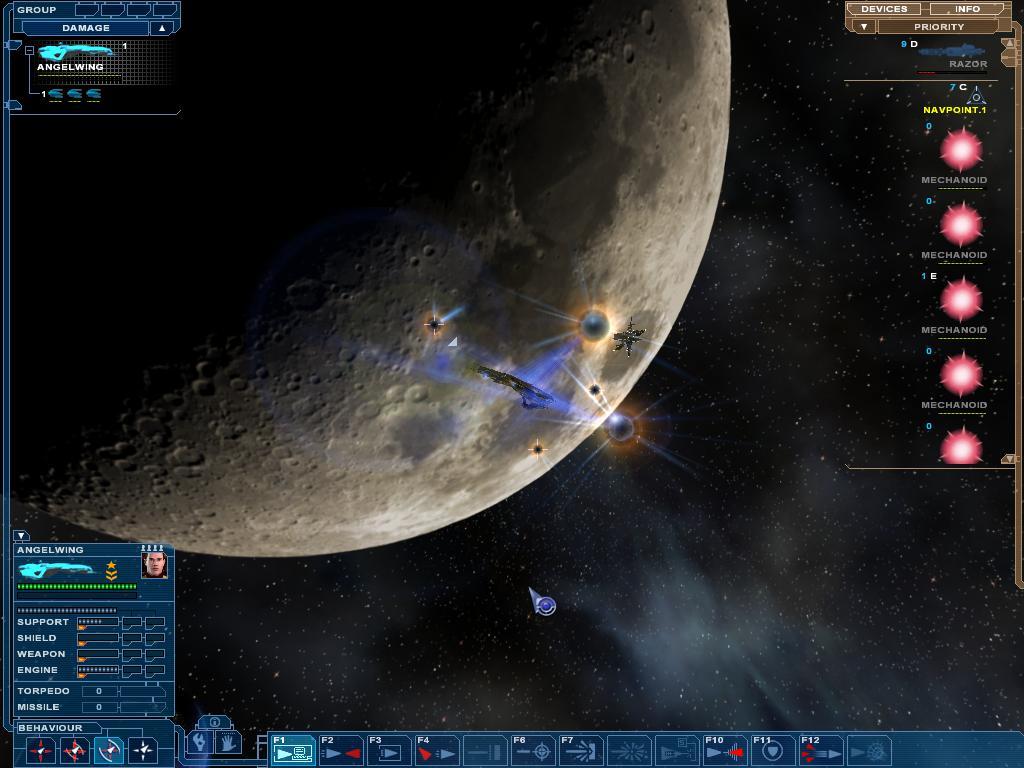 Mechanoids Near The Moon