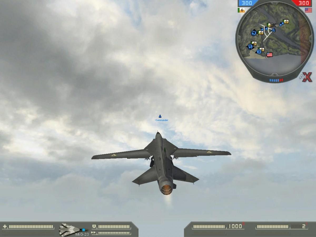 BF2+AIX2.0. Using a MiG-23 jet