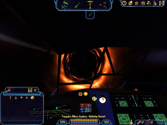 Mining Ship Cockpit View 01