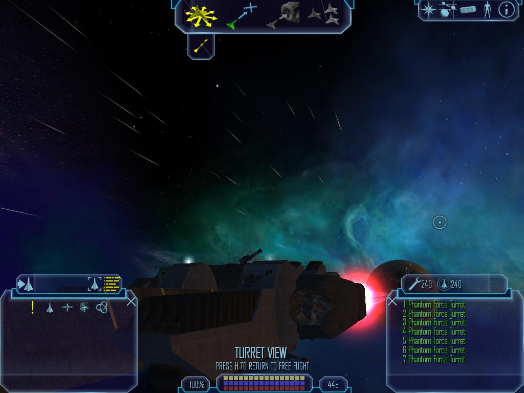 Nemesis ship turret view