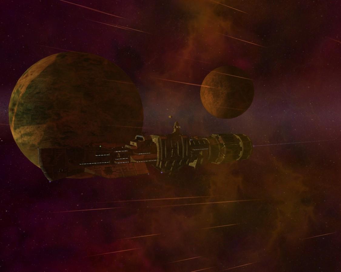 On patrol near planet Slor