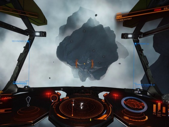 Elite Dangerous Beta - Asteroid detonation