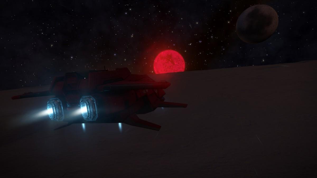 Horizons - High flight above planet dark side
