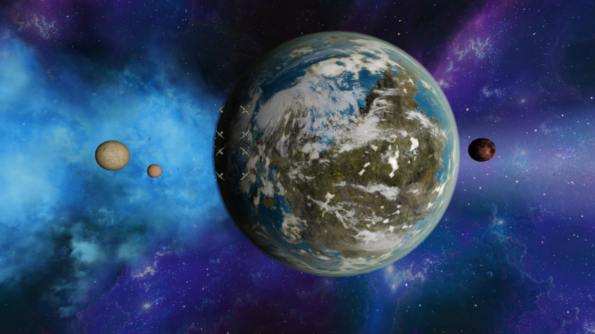Planet Aventin and moons