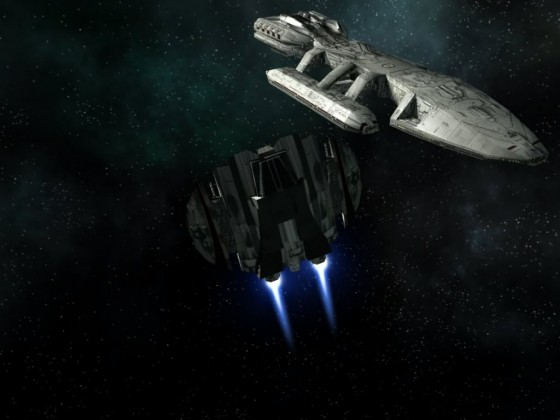 Cylon Raider Mk I evasion maneuvers