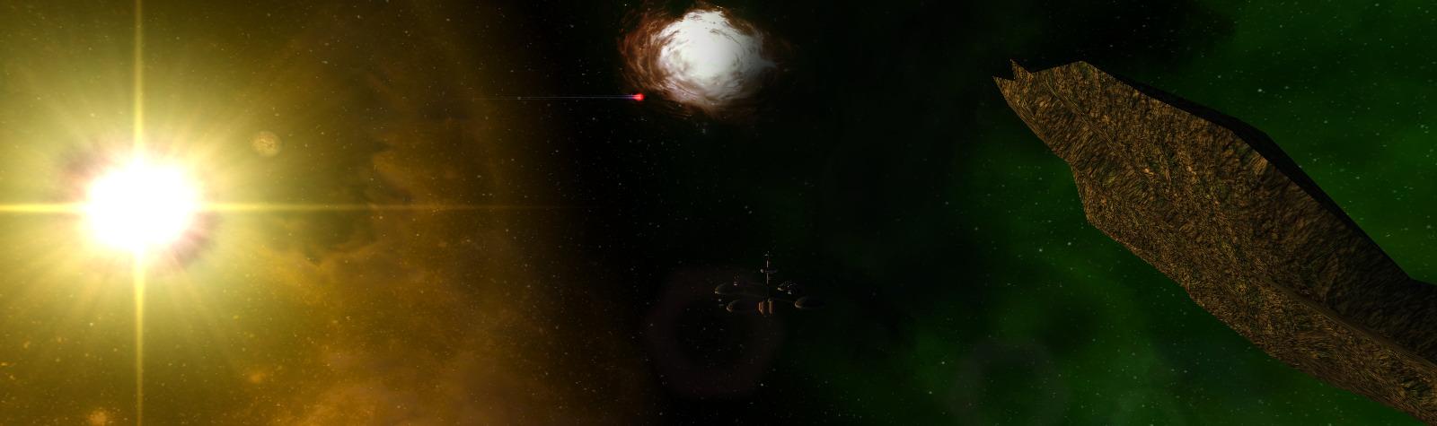 Omicron Theta, a green nebula border near Freeport 9