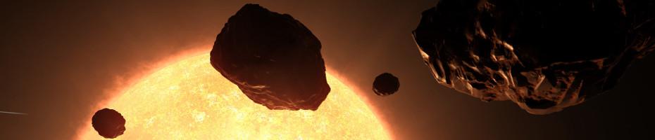 Small asteroid field close near to sun ...