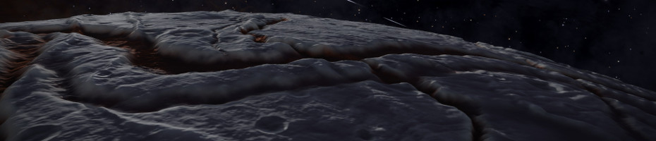 Planet with deep canyons ...